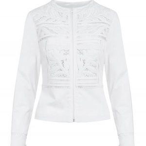Anne Fontaine Maya White Denim Jacket